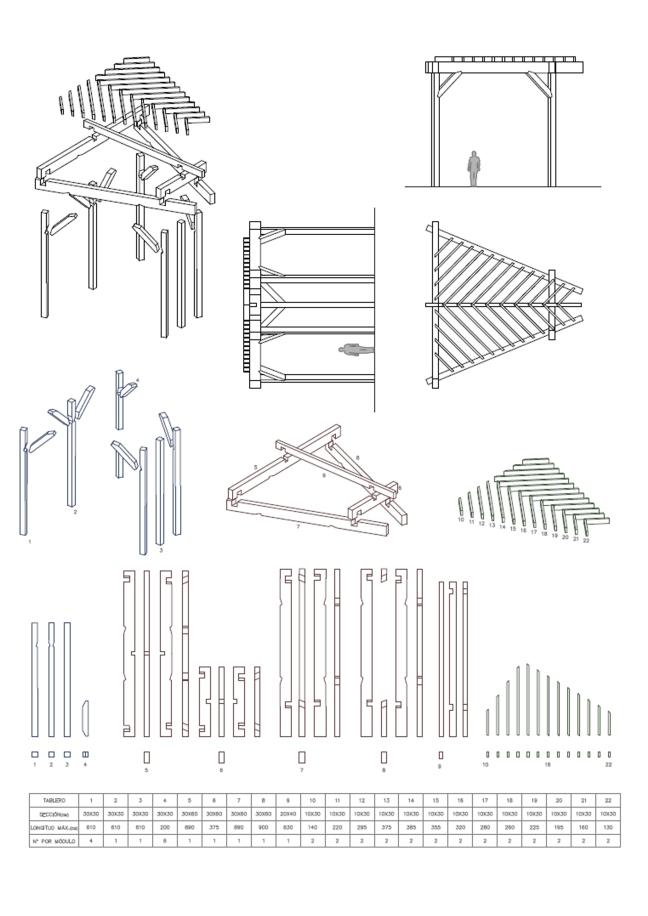 Portfolio arquitecto y urbanista - Medidas de pergolas ...